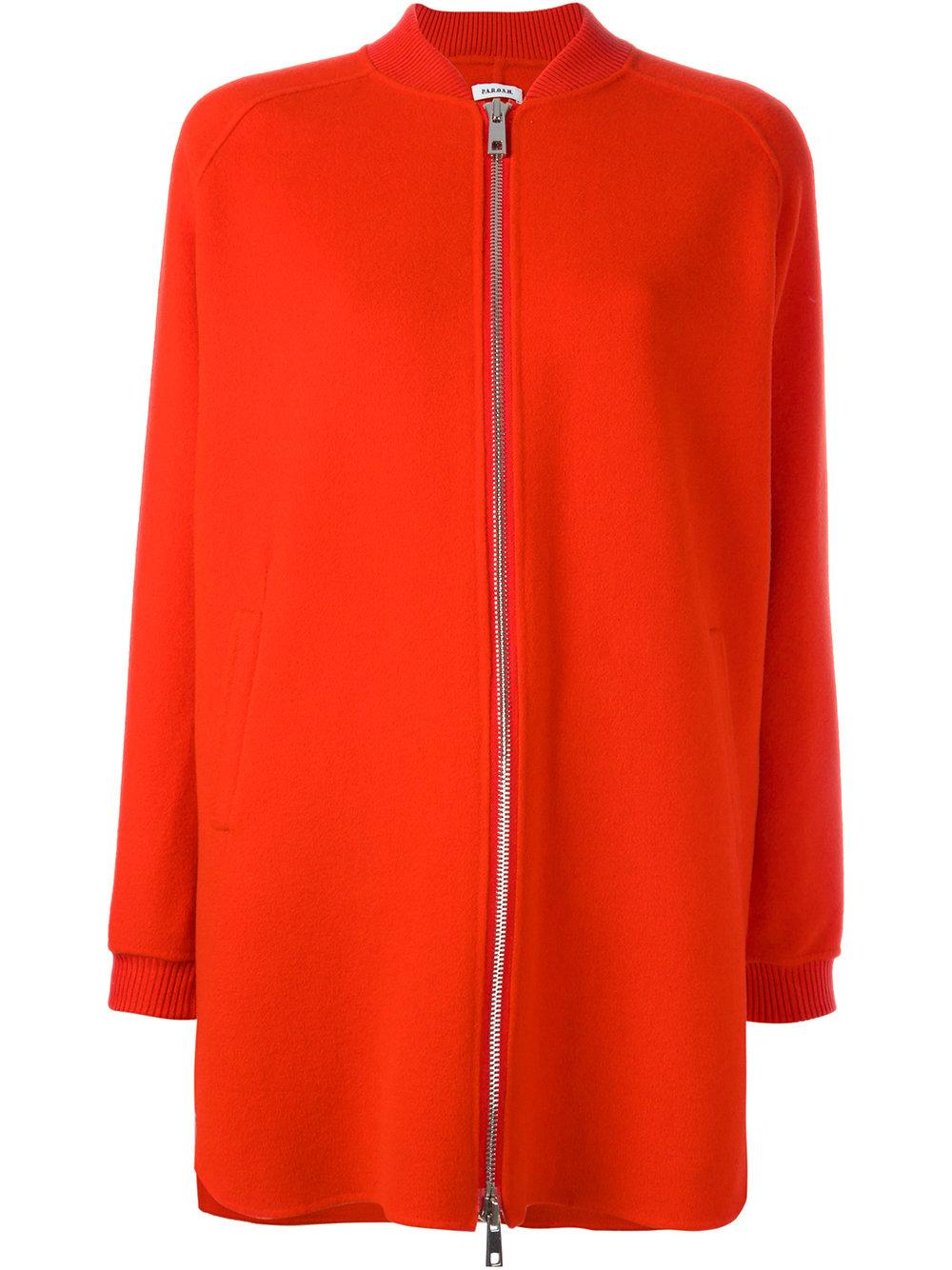 P.a.r.o.s.h. Zip Jacket in Red