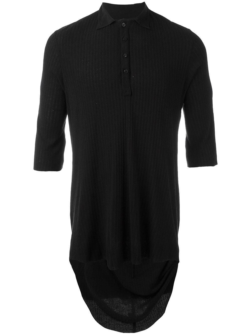 Cedric Jacquemyn Silk Polo Shirt In Black For Men Lyst