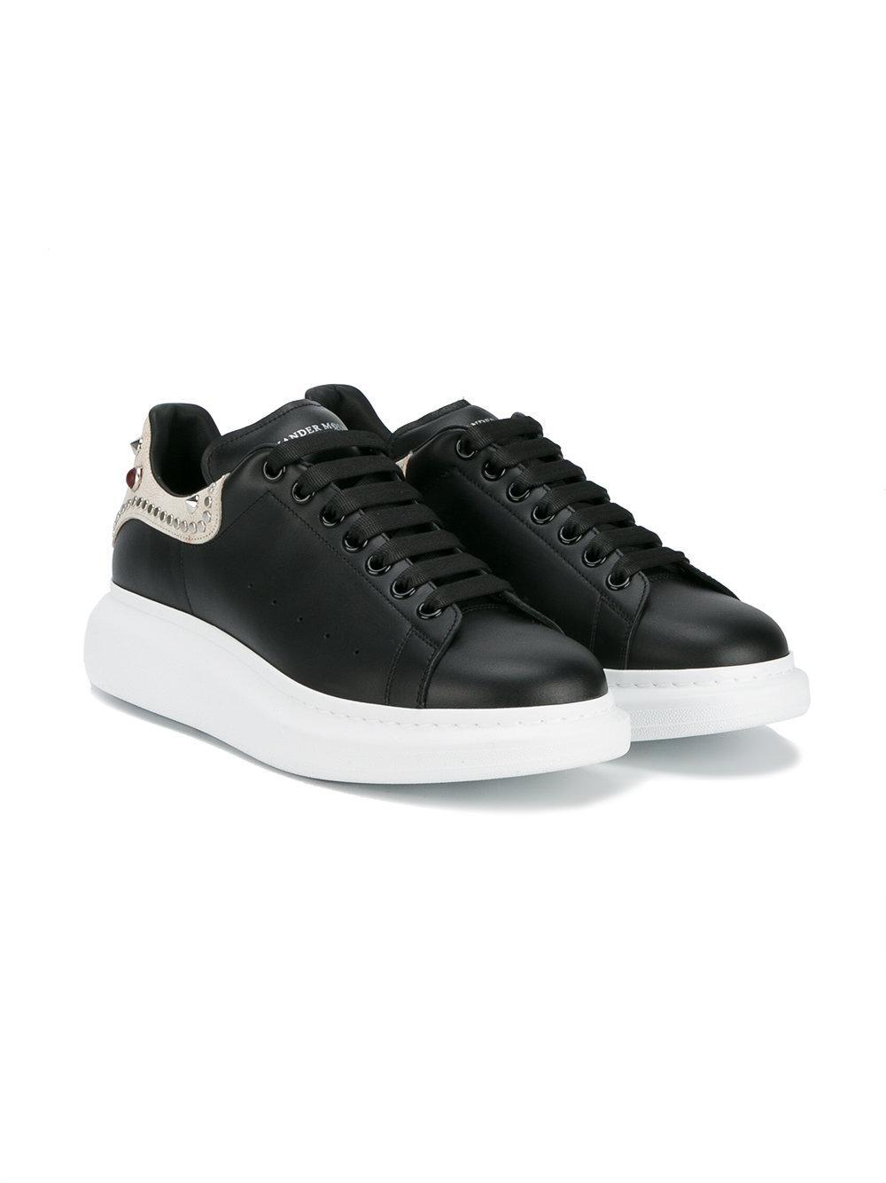 Alexander Mcqueen Embellished Oversized Sneakers In Black