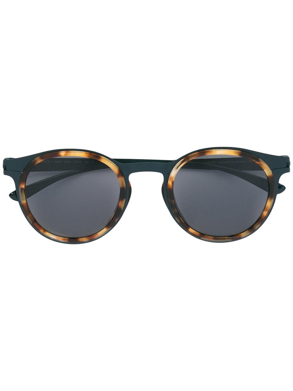 Glasses Gray Frame : Mykita Round Frame Sunglasses in Gray for Men Lyst