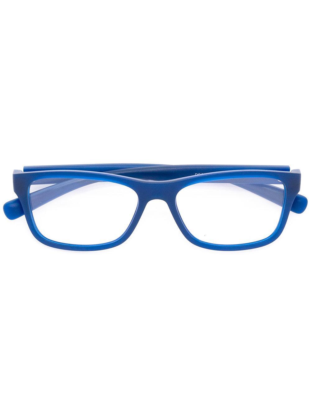 Dolce & gabbana Rectangular Frame Glasses in Blue Lyst