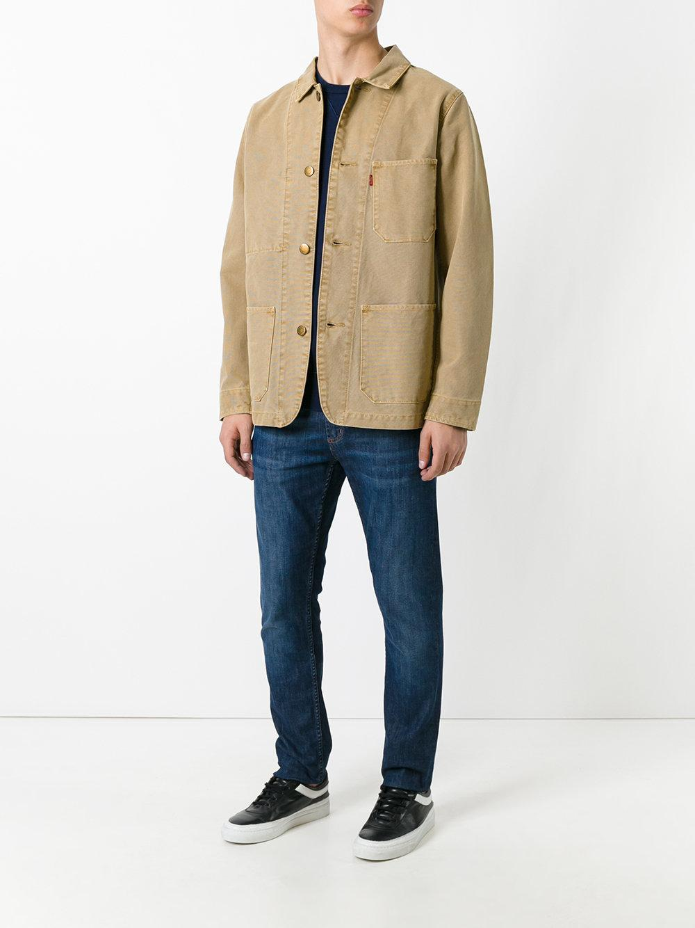 Lyst Levi S Engineers Denim Jacket In Brown For Men