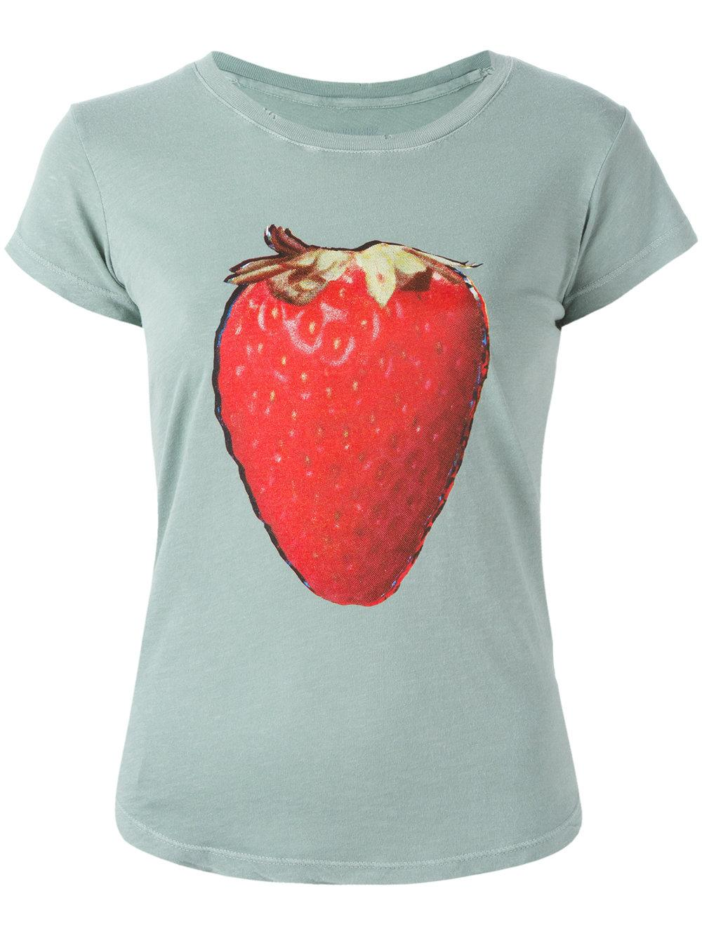 lyst zadig voltaire strawberry print t shirt in blue. Black Bedroom Furniture Sets. Home Design Ideas