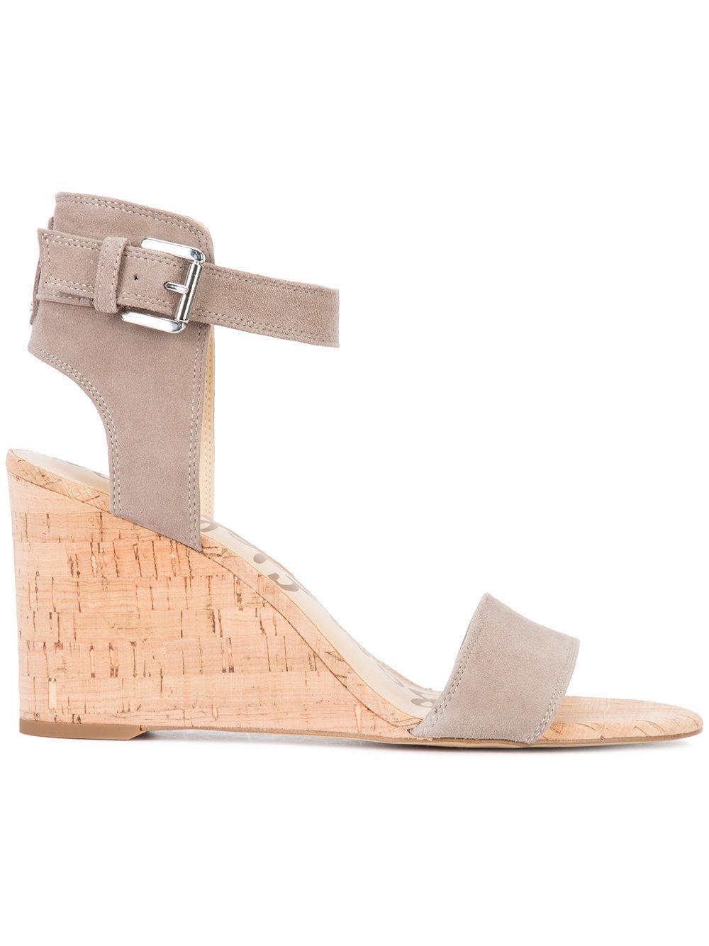 Lyst Sam Edelman Willow Sandals In Gray