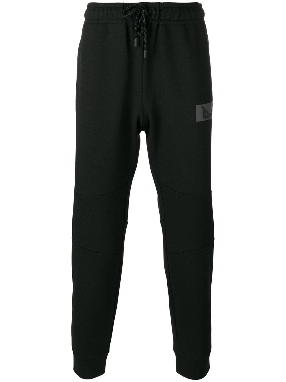 defe8a301d40 Lyst - Fendi Bag Bugs Patch Track Pants in Black for Men