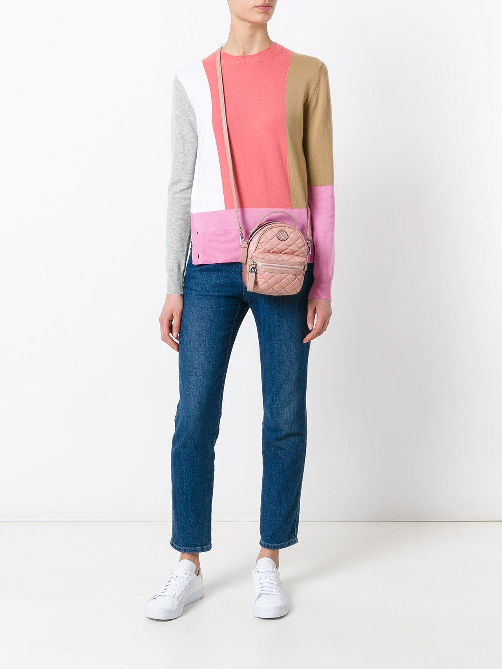 Lyst Moncler Backpack Style Cross Body Bag In Pink