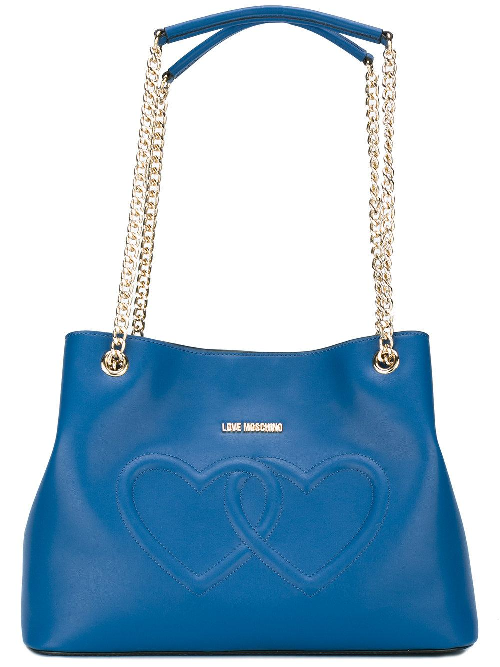 Lyst Love Moschino Heart Shoulder Bag In Blue