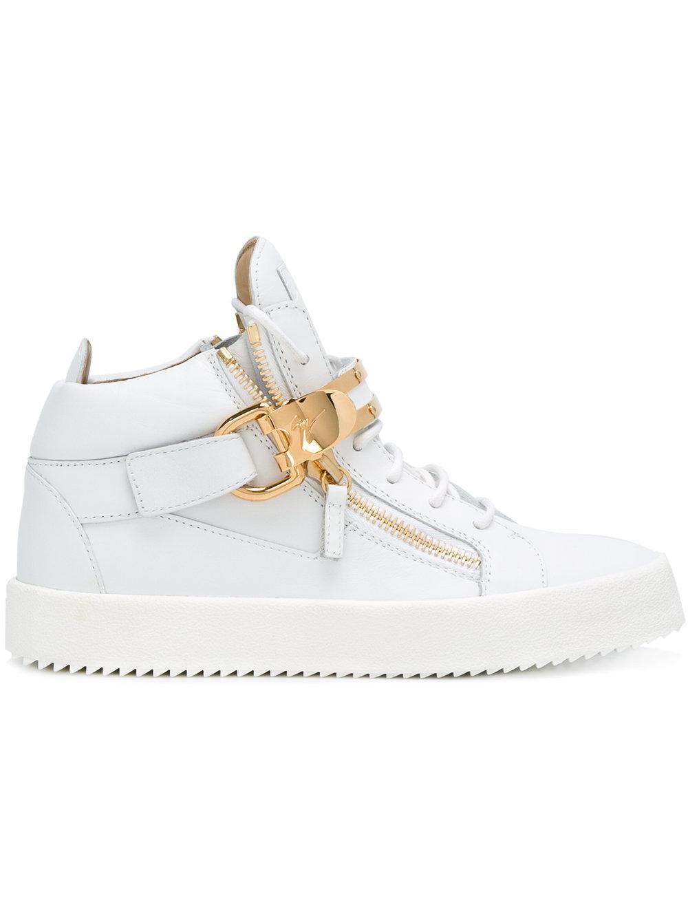 giuseppe zanotti owen hi top sneakers in white lyst