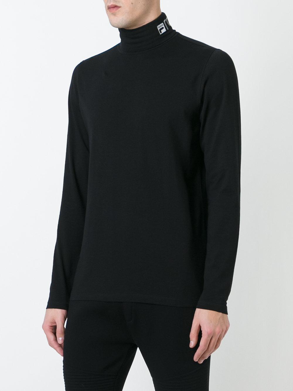 Gosha Rubchinskiy Roll Neck T Shirt In Black For Men Lyst