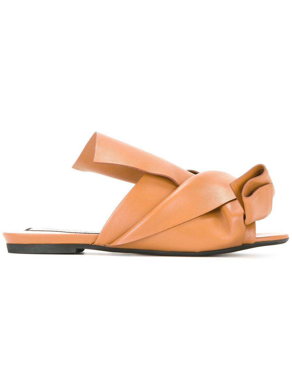 Where Can I Order logo plaque flat sandals - Brown N Finishline Cheap Online For Cheap Online Cheap Sale 2018 Unisex 3xgwQbHn