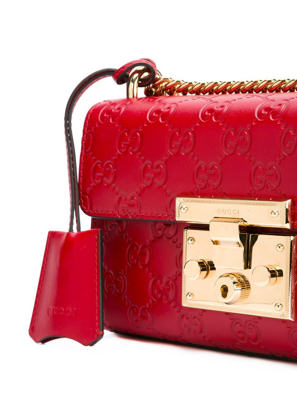 b70fdc5473af8e Padlock Gucci Signature Shoulder Bag Red | Stanford Center for ...