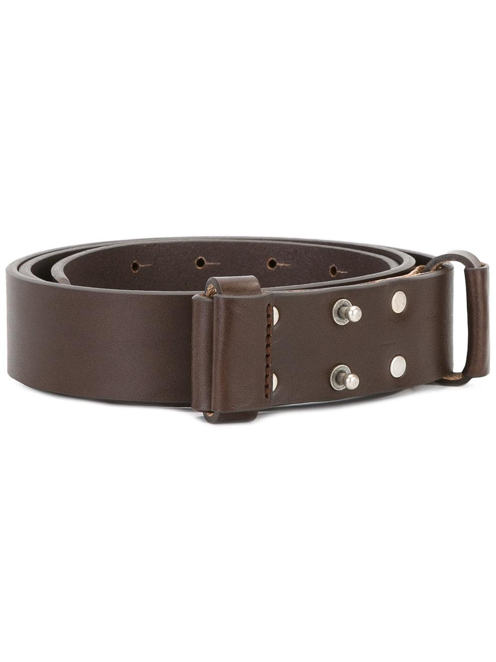 al duca d aosta studded buckle belt in brown lyst