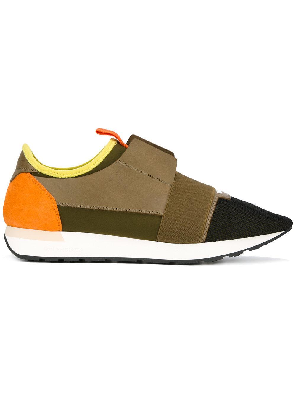 Balenciaga Colour Block Sneakers In Green For Men Lyst