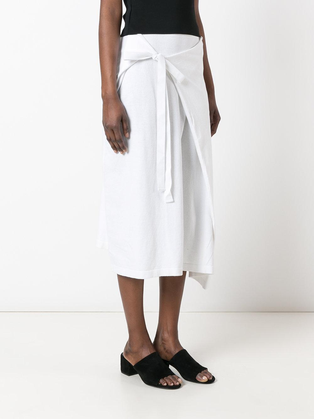 Lyst Joseph Wrap Skirt Women Cotton L In White