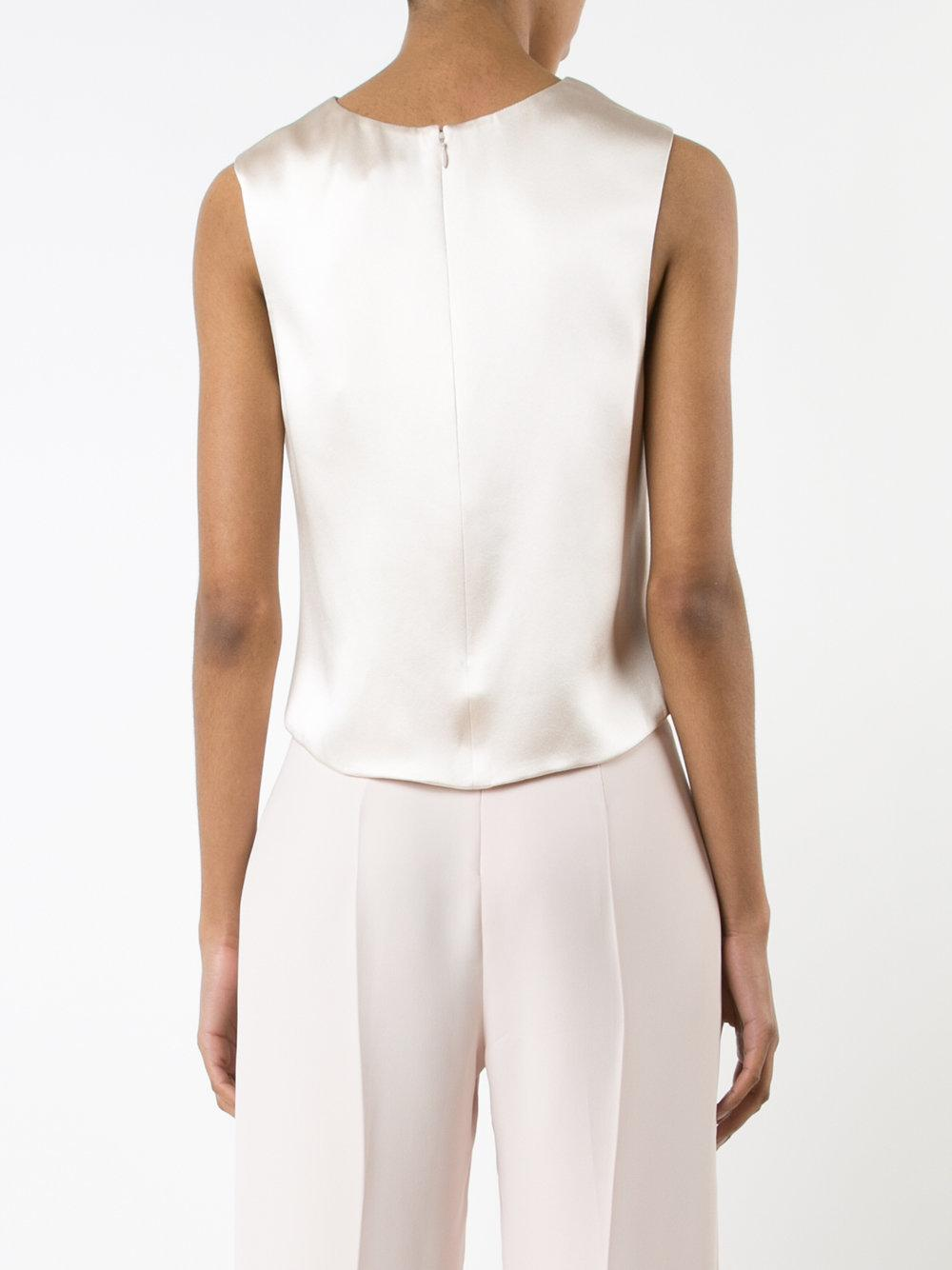 Lyst Brandon Maxwell Cropped Blouse In Pink