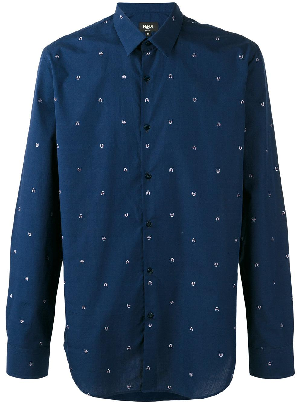 Fendi Multi Ulls Shirt In Blue For Men Lyst