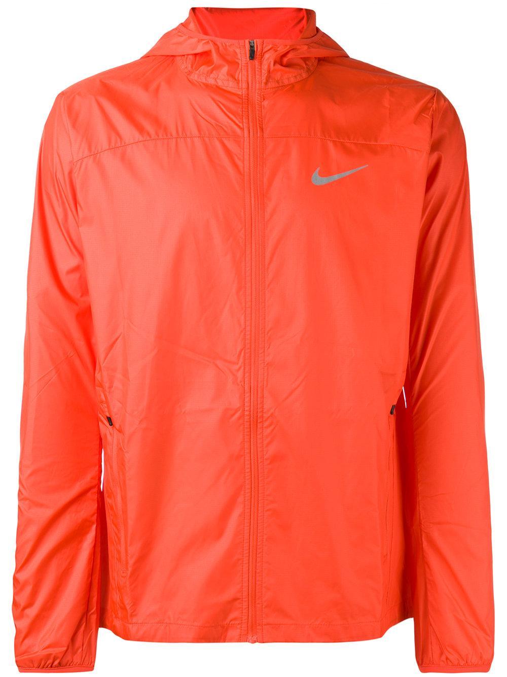 Nike Shield Running Jacket In Orange For Men Lyst