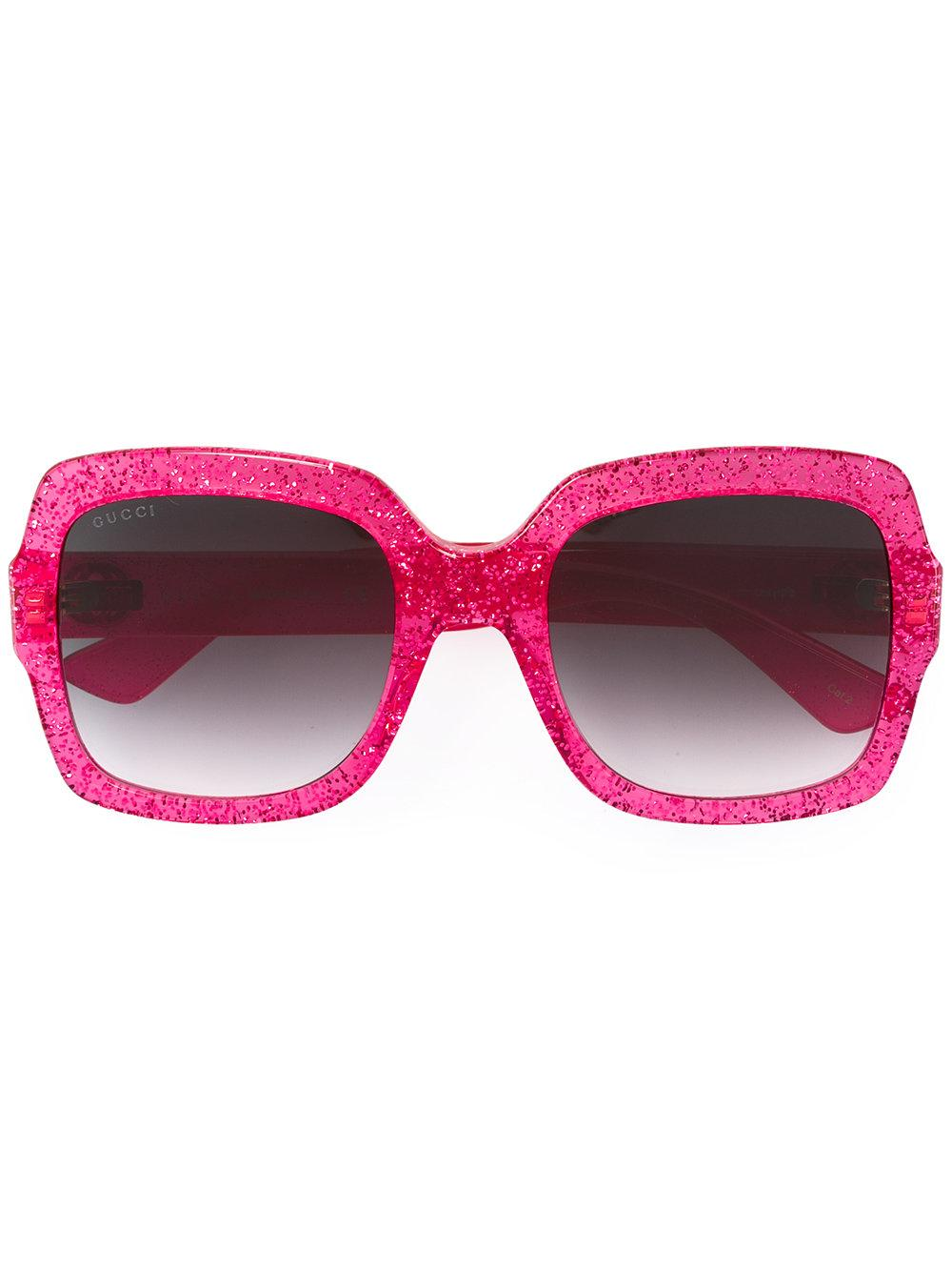 Gucci Glitter Optyl Template Sunglasses in Pink | Lyst