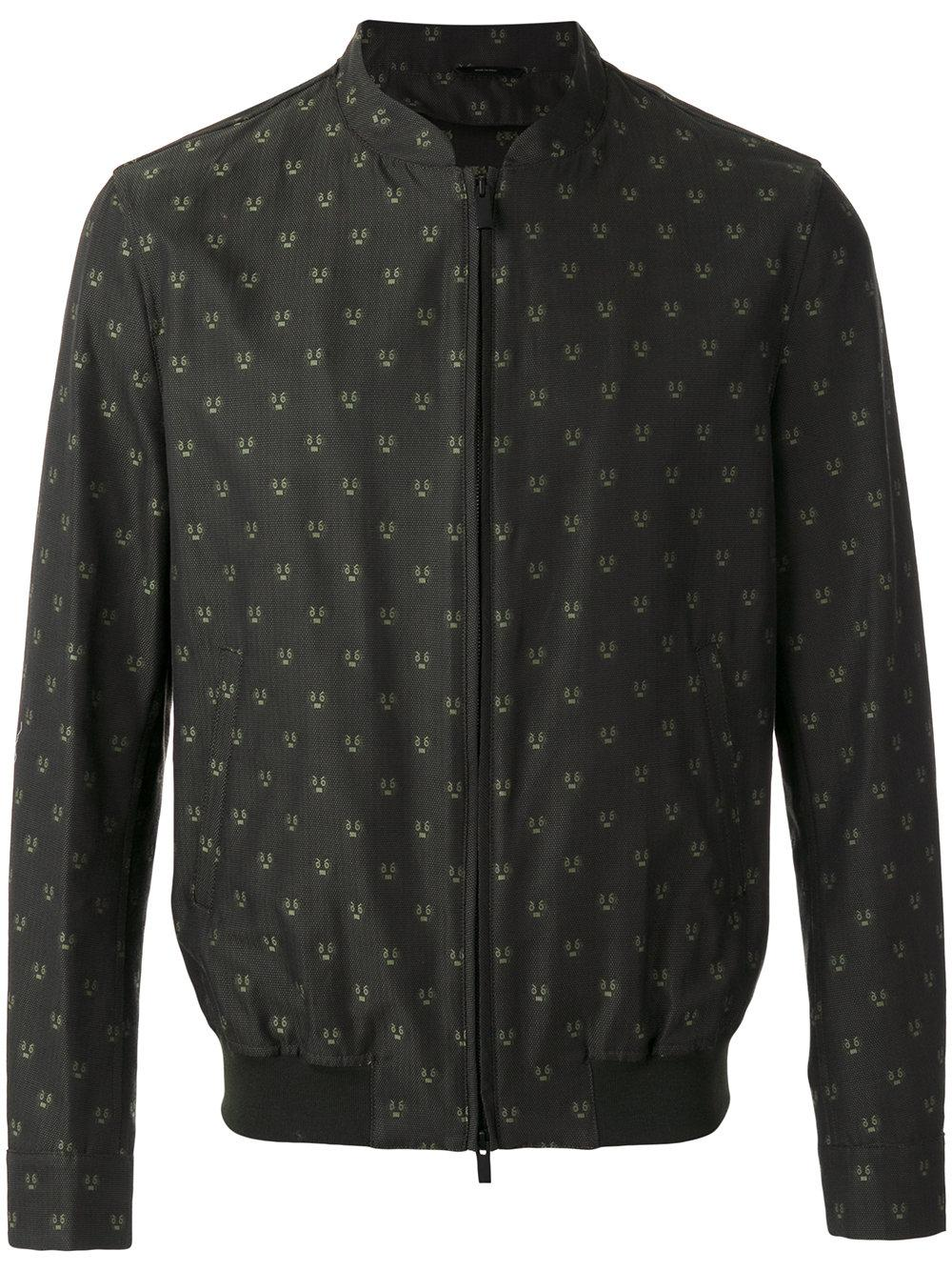 Fendi Embroidered Bomber Jacket in Green for Men
