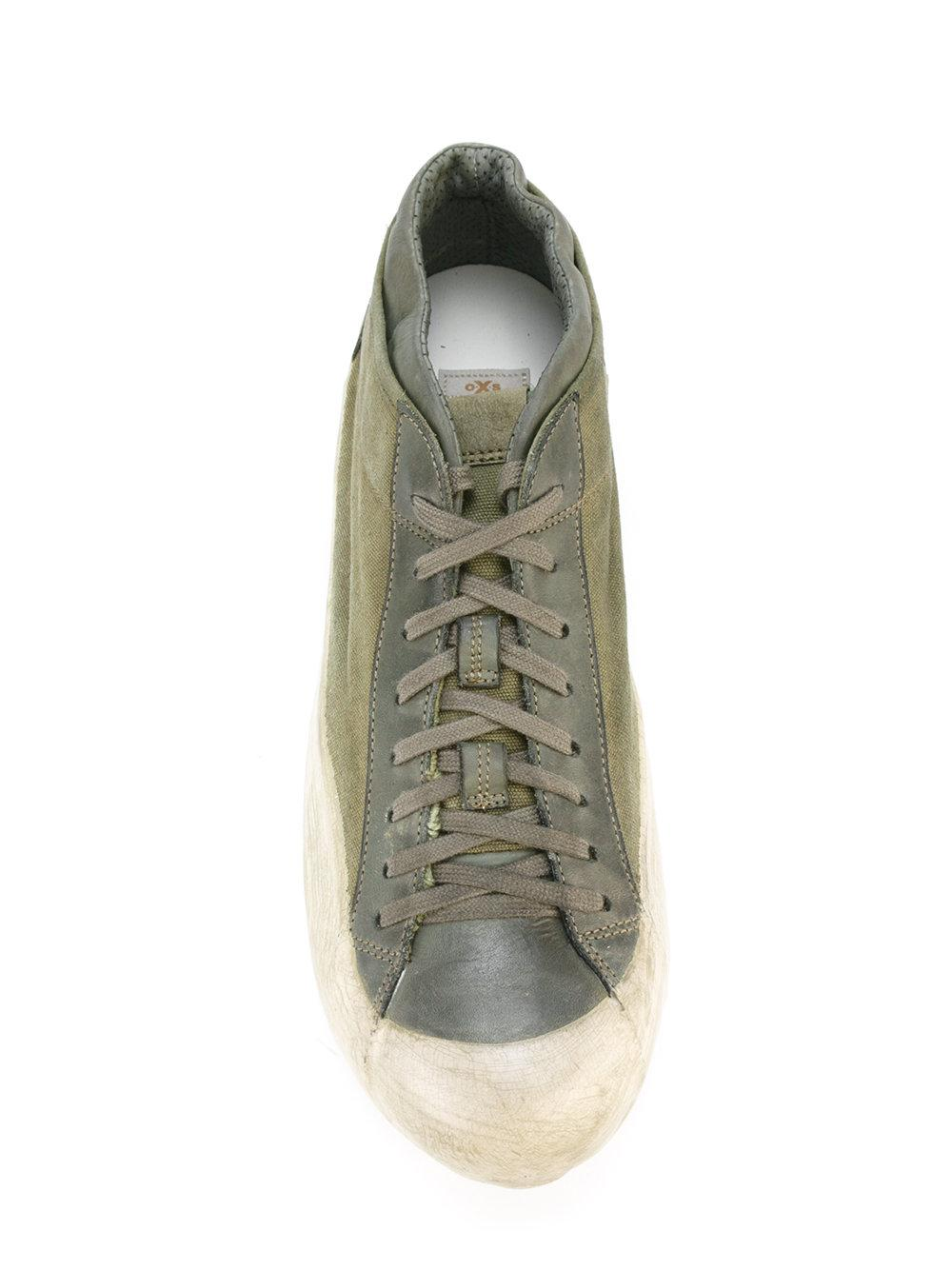Lyst Oxs Rubber Soul Lace Up Sneakers In Green For Men