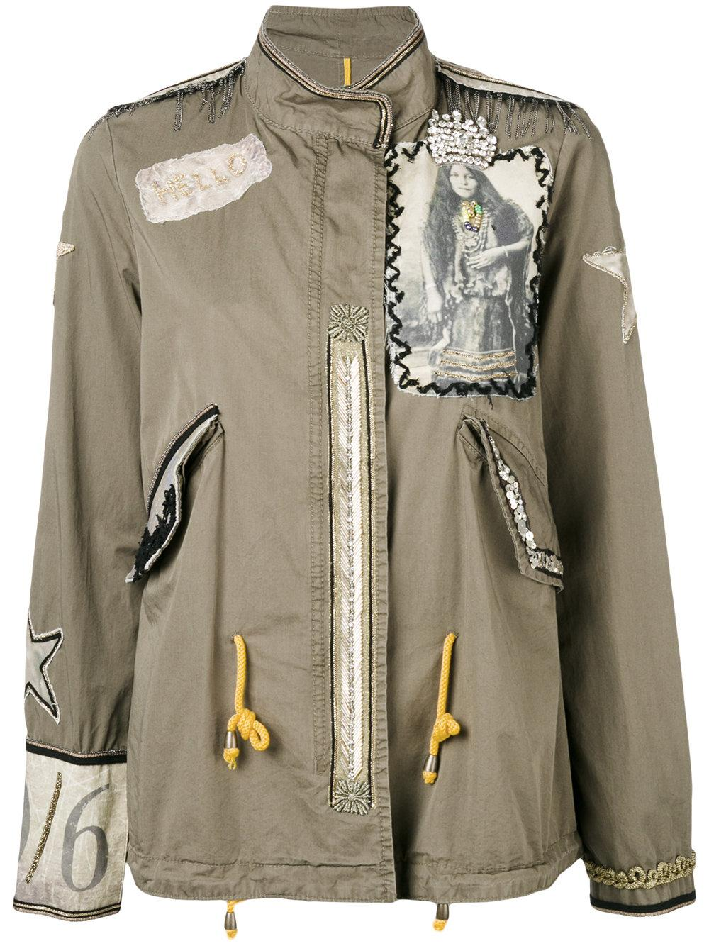 History repeats Embroidered Jacket in Green