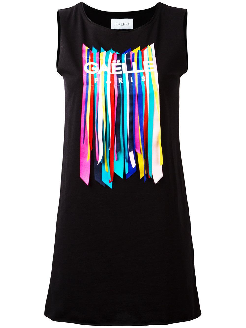 Gaëlle bonheur Embellished Sleeveless T-shirt in Black