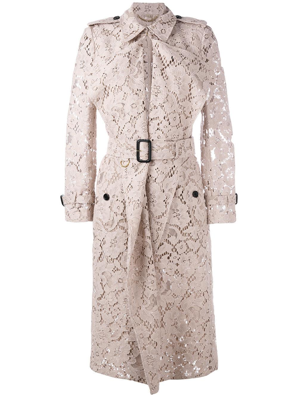 Burberry Lace Trench Coat In Pink Lyst