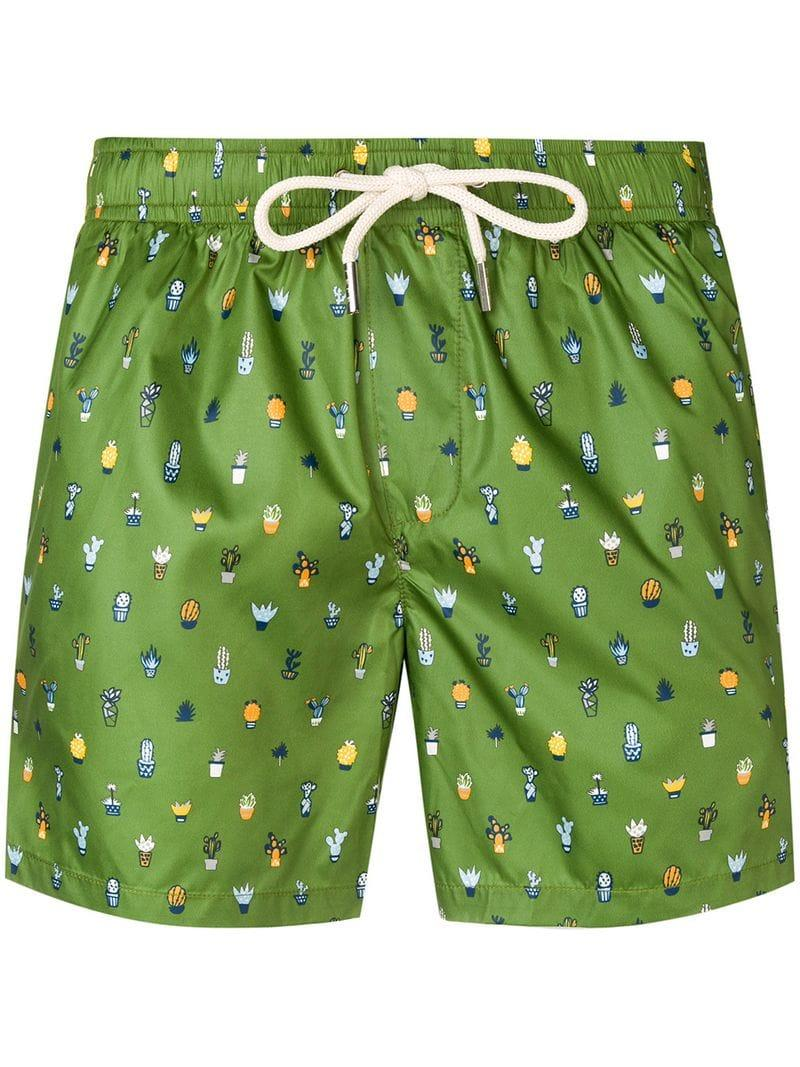 bd4f86188a Fefe Cactus Print Swim Shorts in Green for Men - Lyst