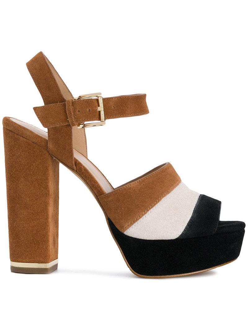 9f67c04be79 Michael Michael Kors Anise Platform Sandals in Brown - Lyst