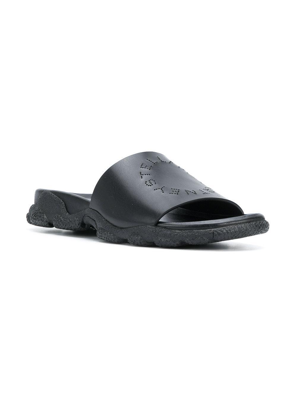 da8e42e85d99 Lyst - Stella McCartney Perforated Logo Sliders in Black for Men