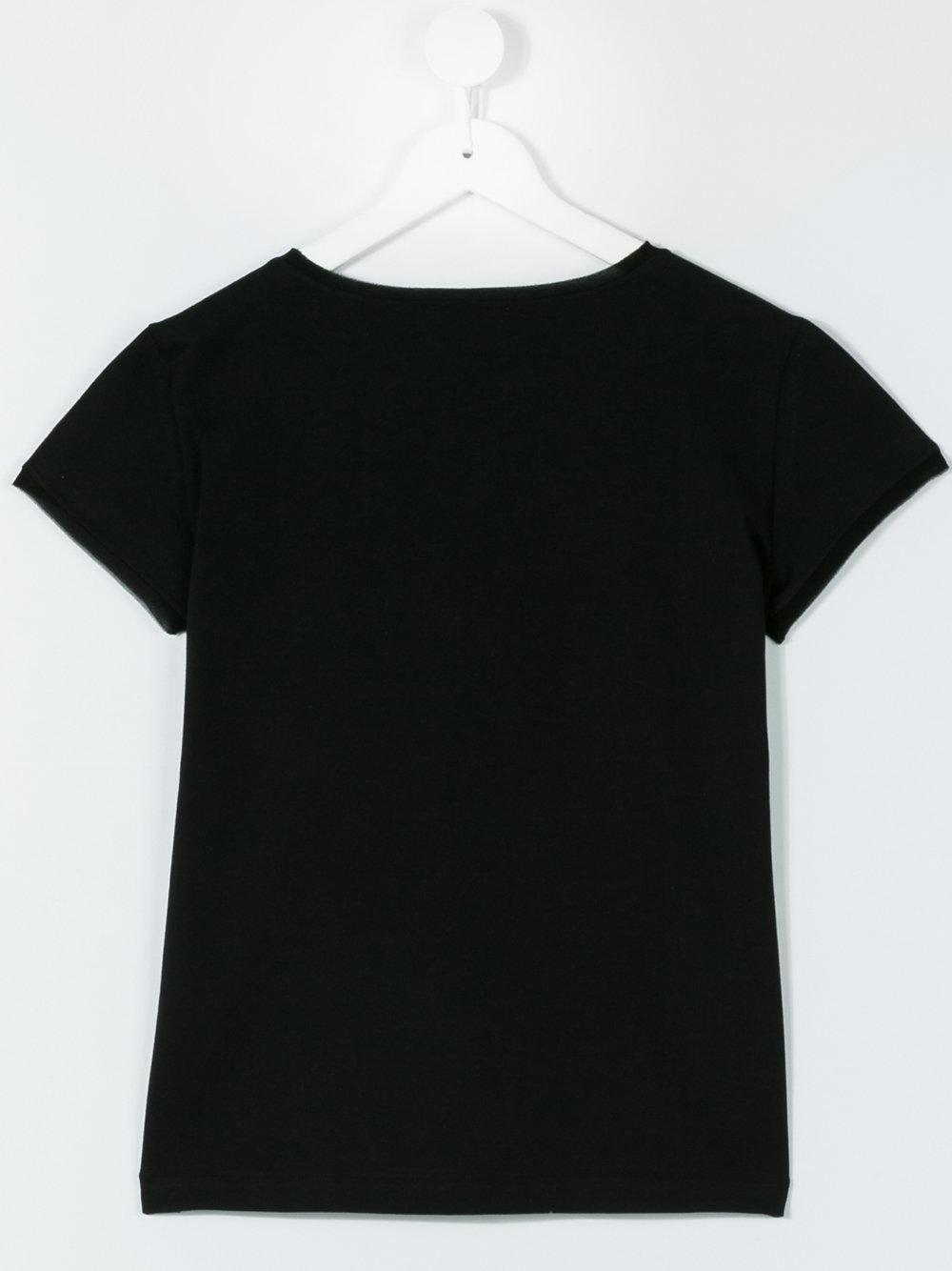 Lyst - Lanvin Teen Studded Logo T-shirt in Black