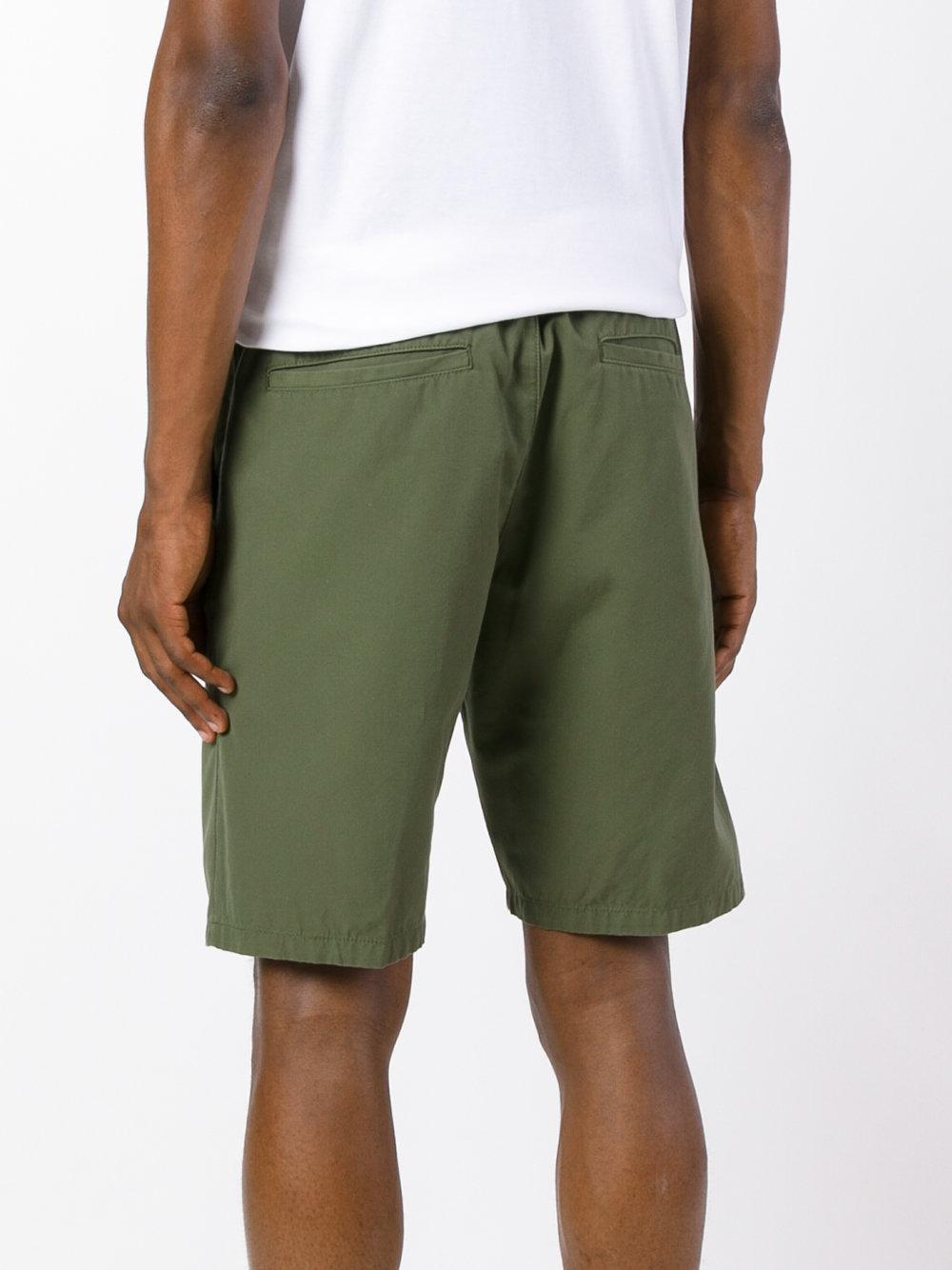 Lyst carhartt porter shorts in green for men for Men a porter