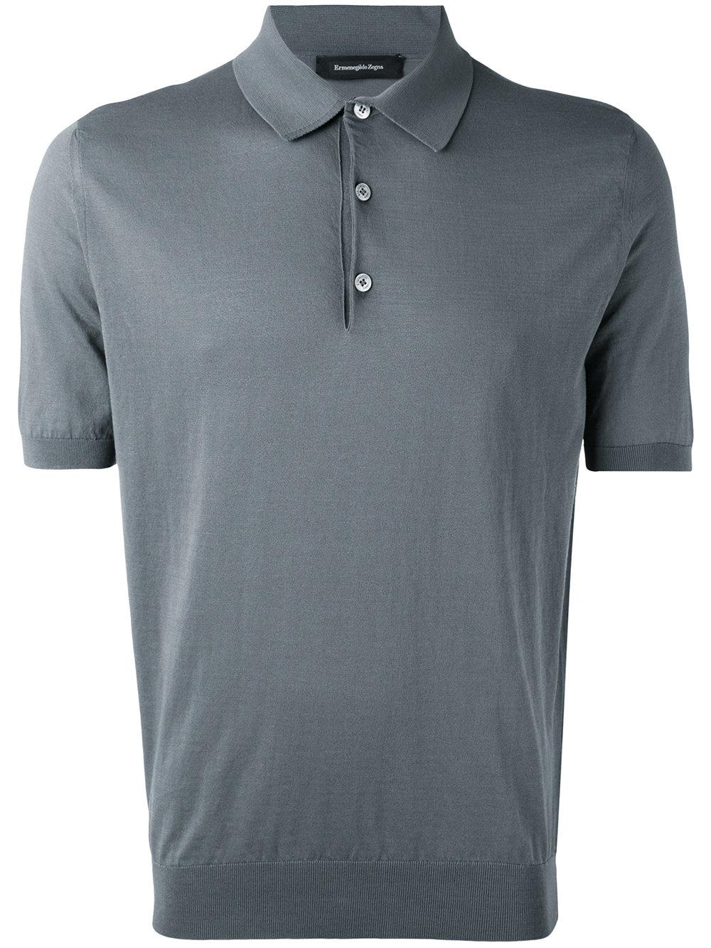 Lyst ermenegildo zegna classic polo top in gray for men for Zegna polo shirts sale