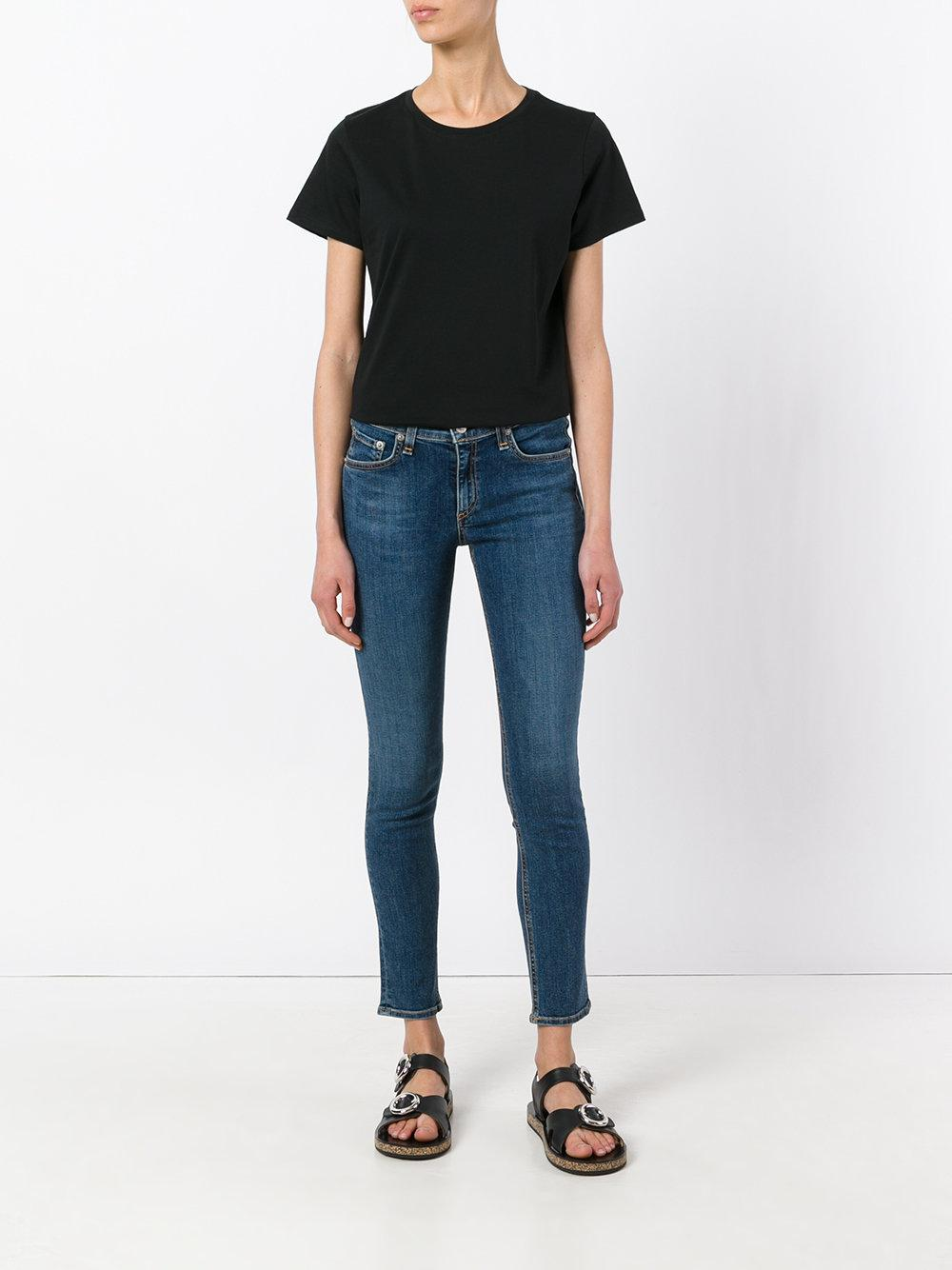 Lyst vince round neck t shirt in black for Vince tee shirts sale