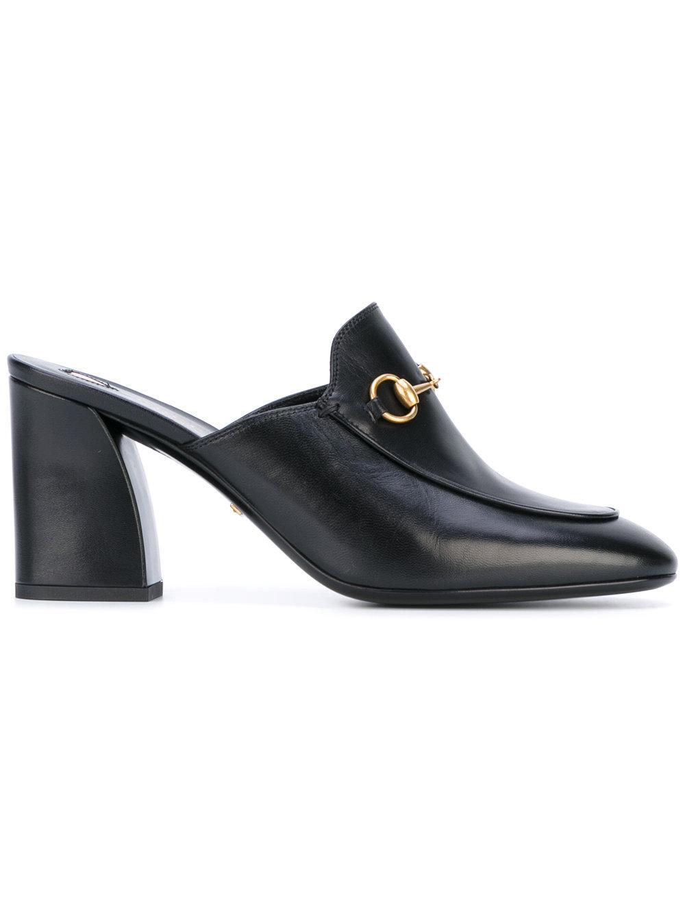 Gucci Horsebit Mules In Black Lyst