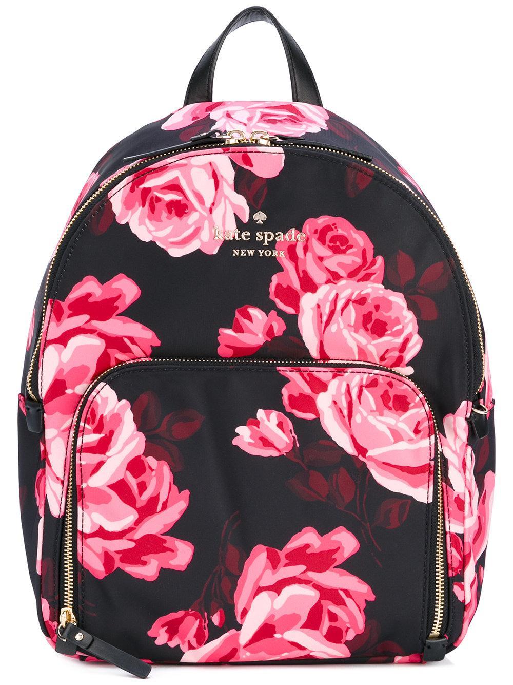 Kate spade new york Floral Print Backpack in Black