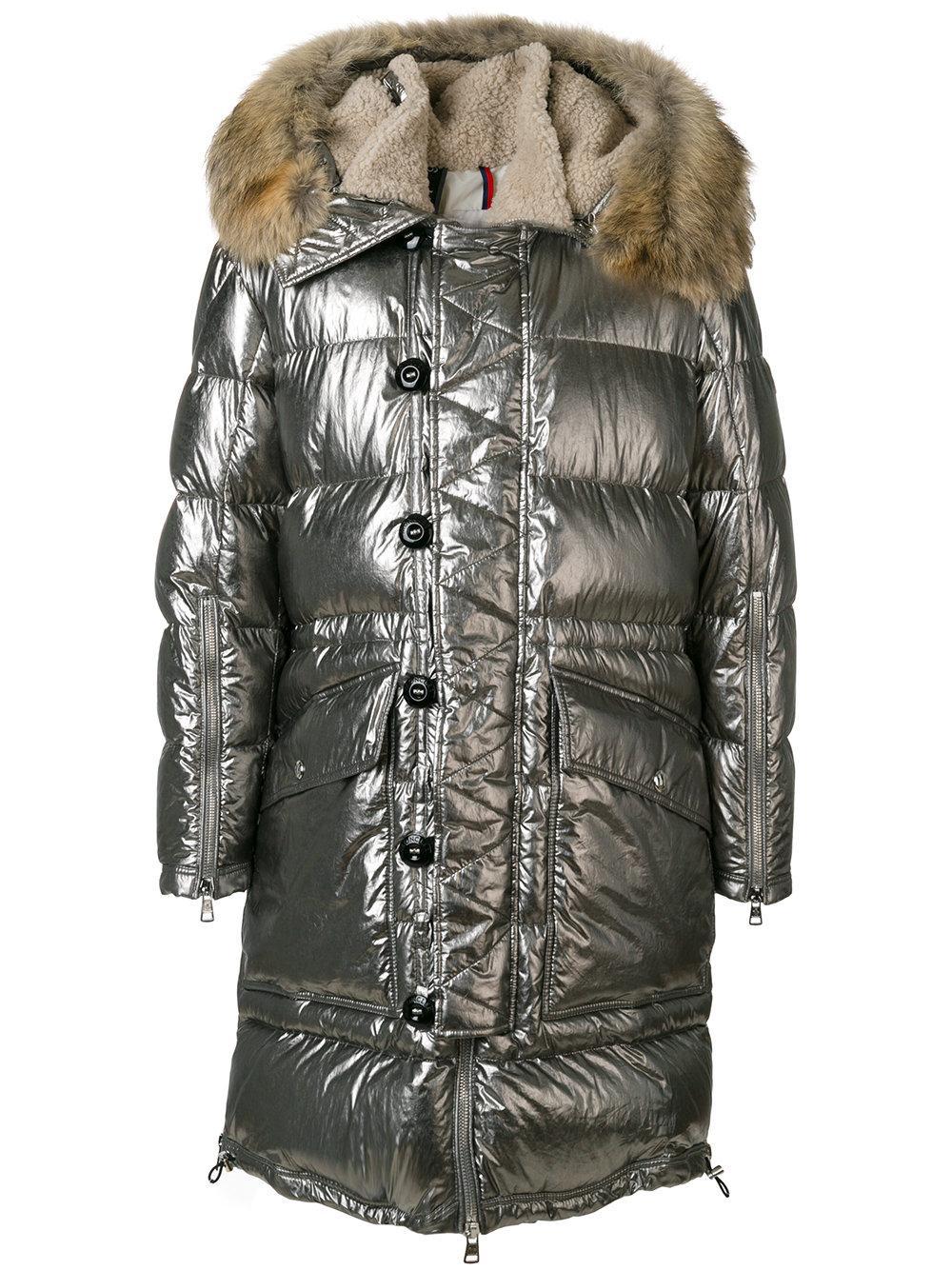 moncler inuit coat in gray for men lyst