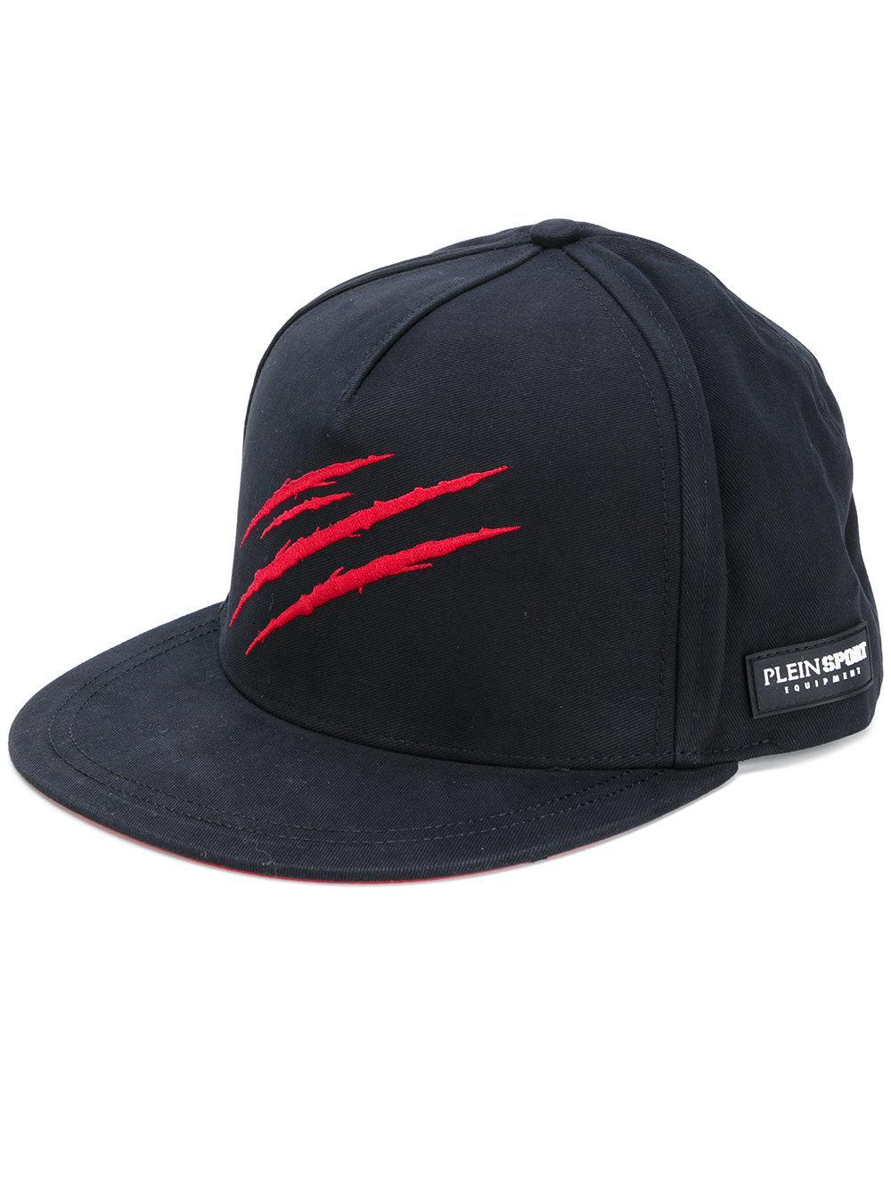 philipp plein embroidered scratch cap in black for men lyst. Black Bedroom Furniture Sets. Home Design Ideas