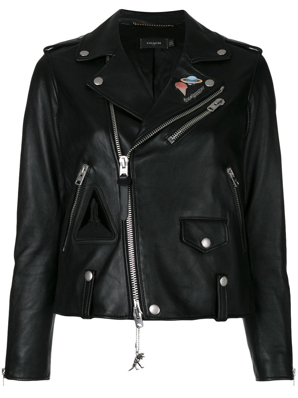 Coach Nasa Biker Jacket in Black | Lyst