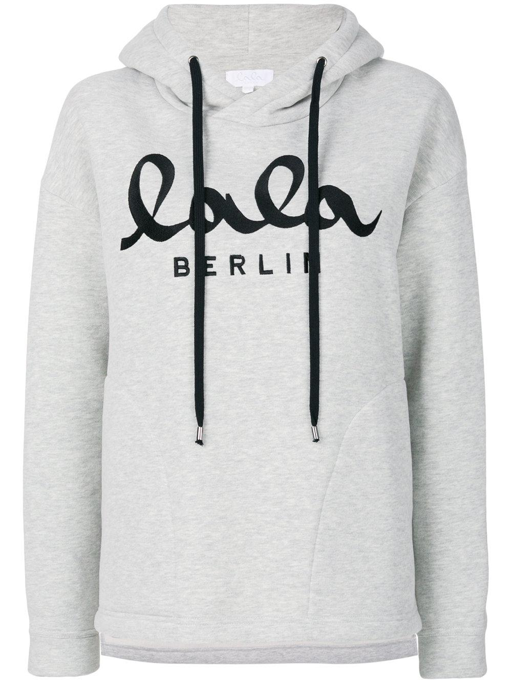 lala berlin hooded sweatshirt in gray for men lyst. Black Bedroom Furniture Sets. Home Design Ideas