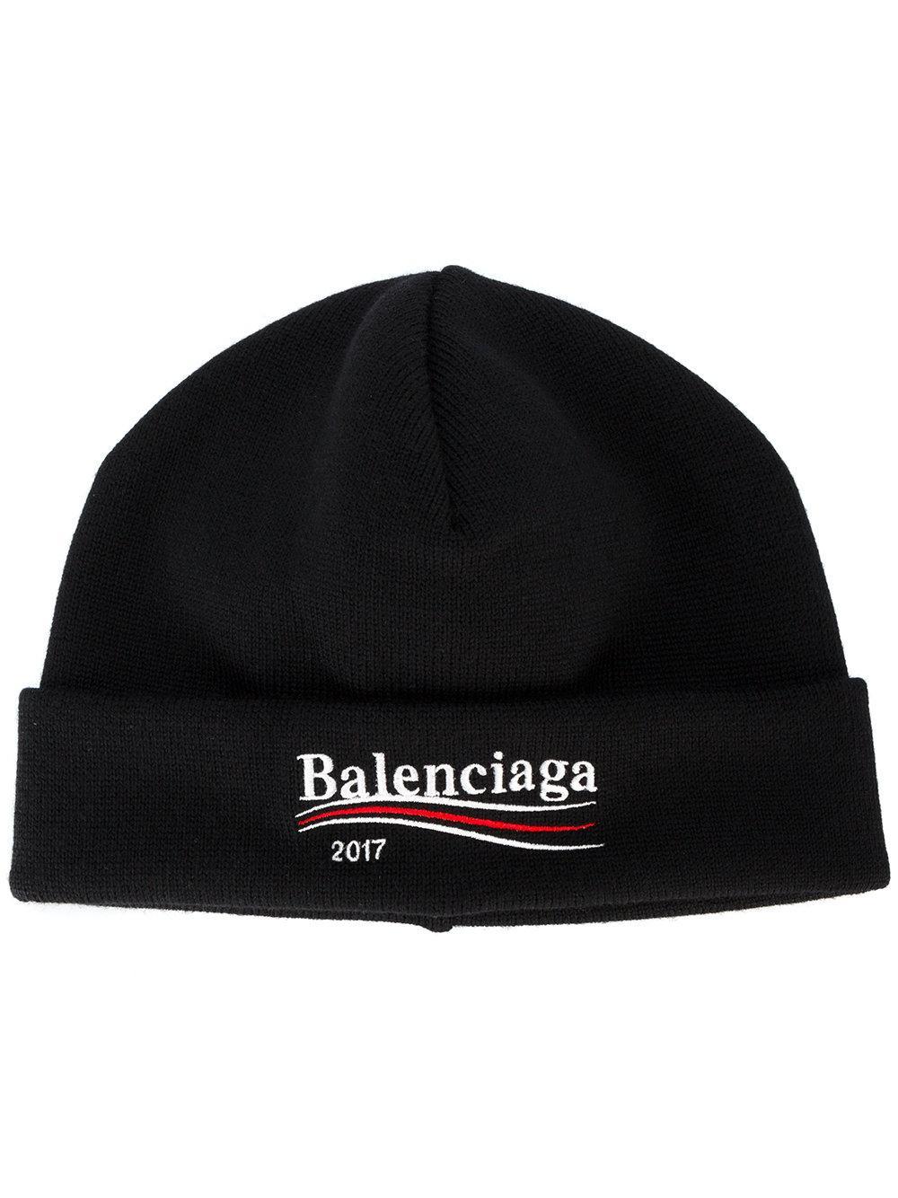 Lyst - Balenciaga 2017 Beanie Hat in Black for Men 6f774cd1c6e9