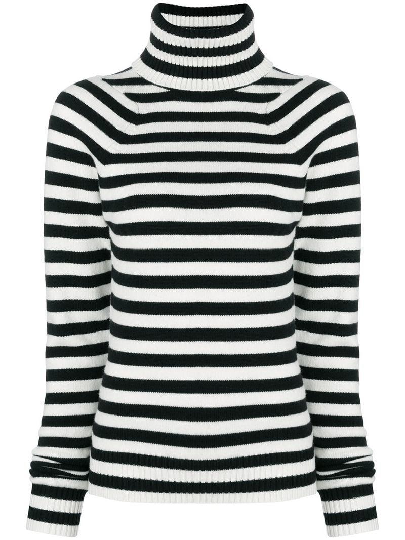 5b440c02b8 Lyst - Haider Ackermann Striped Knit Sweater in White
