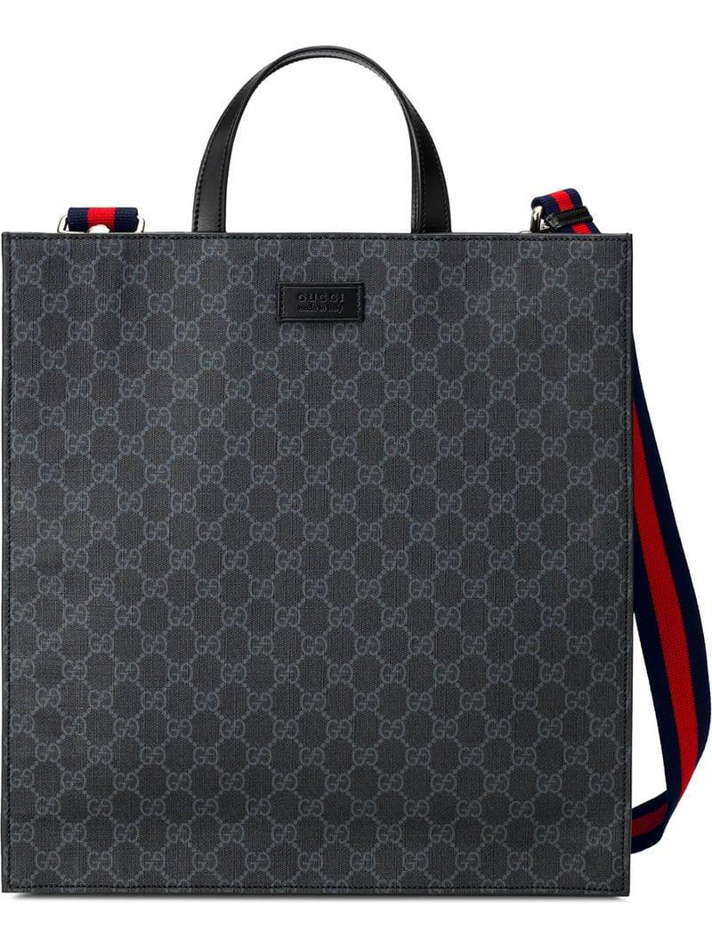 544156dbe9a1 Lyst - Gucci GG Supreme Tote Bag in Black for Men - Save ...