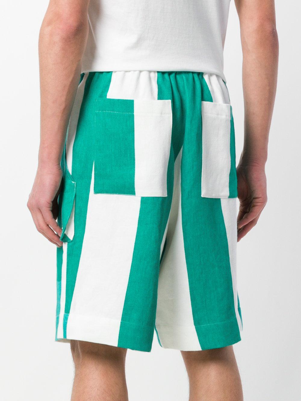 Top Quality Cheap Online Études Studio striped elasticated waist shorts - White Fashionable Sale Online Order For Sale bIypK