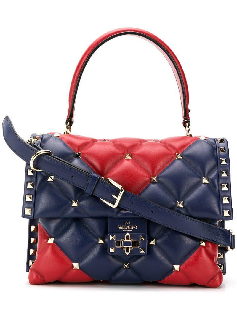 0c93dc939932 Lyst - Valentino Garavani Candystud Bag in Red