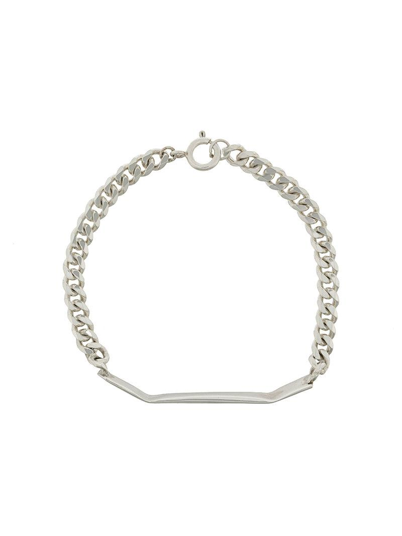 Niza Huang chain and bar bracelet - Metallic foybIfd4uX