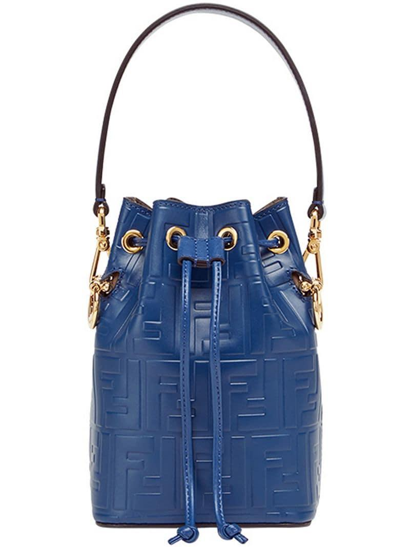 e371821b2522 Сумка-ведро Мини 'mon Tresor' Fendi, цвет: Синий - Lyst