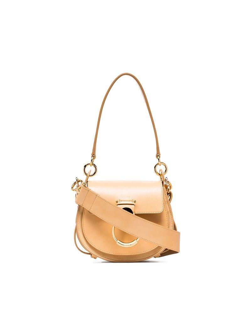 Chloé. Women s Nude Tess Leather Shoulder Bag c6272b1501af9