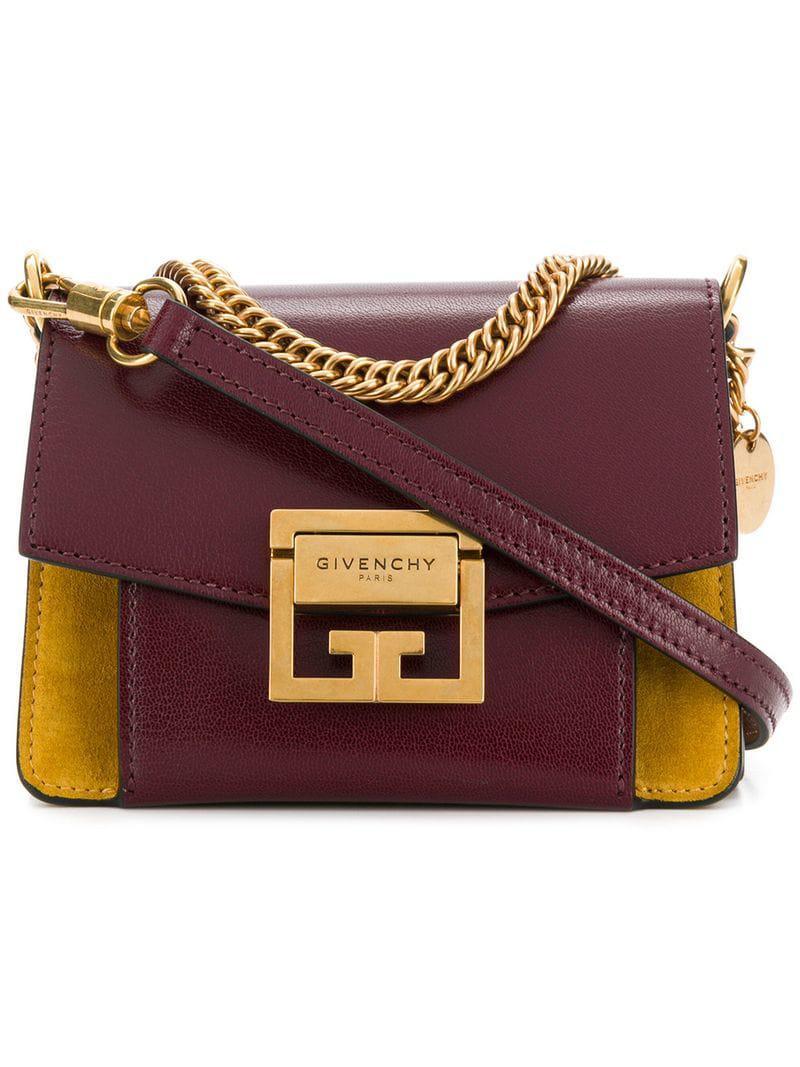Givenchy - Red Mini Gv3 Crossbody Bag - Lyst. View fullscreen ea115fee31bdb
