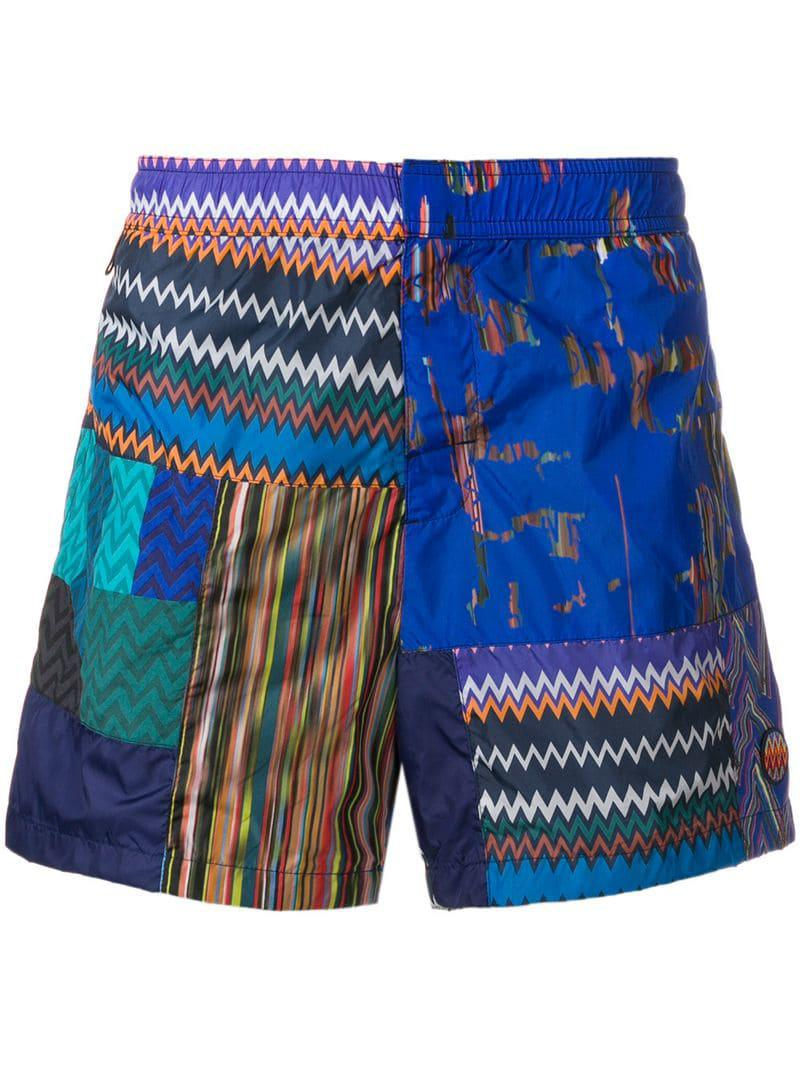 7ea924d0ea Lyst - Missoni Pattern Print Swim Shorts in Blue for Men - Save 23%